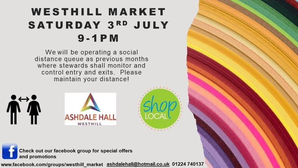 Westhill Market 3rd July 2021